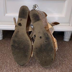 Steve Madden Shoes - •Steve Madden• P-Sli Cork Wedged Heels